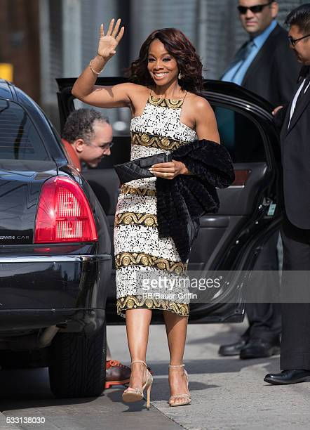 Anika Noni Rose is seen at 'Jimmy Kimmel Live' on May 20, 2016 in Los Angeles, California.