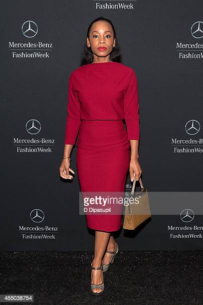 Anika Noni Rose is seen during Mercedes-Benz Fashion Week Spring 2015 at Lincoln Center for the Performing Arts on September 9, 2014 in New York City.