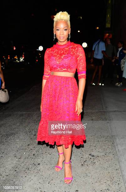 Anika Noni Rose is seen walking in SoHo on September 17 2018 in New York City