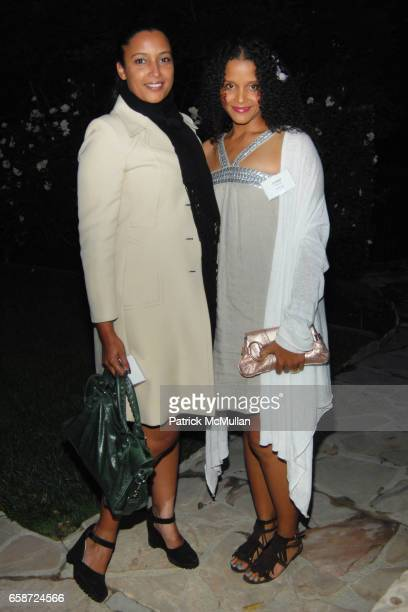 Anika Poitier and Sydney Poitier attend TISCH SCHOOL SUMMER SOIREE HOSTED BY BRETT RATNER at Private Residence on June 3 2009 in Beverly Hills...