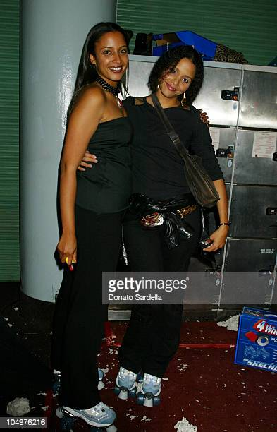 Anika Poitier and Sydney Tamiia Poitier during 4 Wheelers By Skechers Party at The Hollywood Palladium in Hollywood California United States