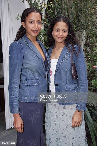 Anika Poitier and Sydney Tamiia Poitier during Chanel CoHosts a Mother and Daughter Charity Luncheon to Benefit The Accelerated School at Guber's...