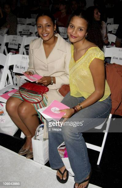 Anika Poitier and Sydney Tamiia Poitier during Los Angeles Fashion Week Lotta 2002 Fall Collection to Benefit Dress for Success at Moomba in Los...