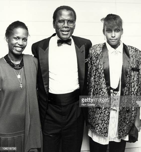 Anika Poitier Sidney Poitier and Paula Poitier during 1st Annual Film Fund's Benefit Salute to Harry Belafonte at The Omni Hotel in New York City New...