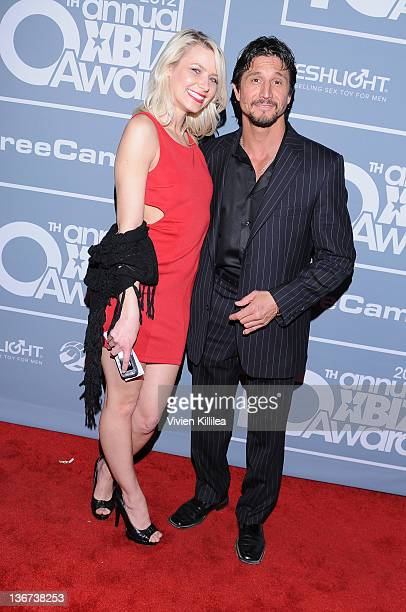 Anikka Albrite and Tommy Gunn attend the 10th Annual XBIZ Awards at The Barker Hanger on January 10 2012 in Santa Monica California