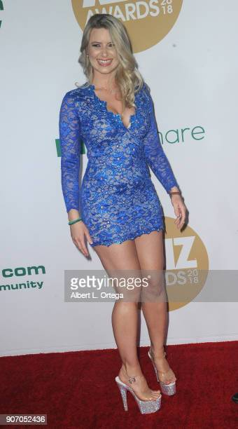 Anikka Albrite arrives for the 2018 XBIZ Awards held at JW Marriot at LA Live on January 18 2018 in Los Angeles California