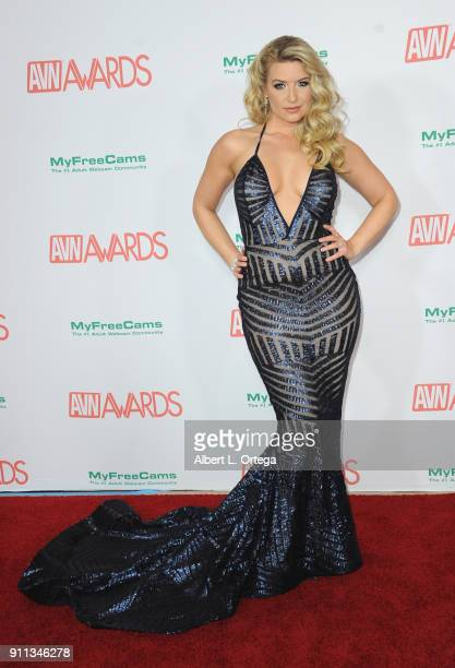 Anikka Albrite attends the 2018 Adult Video News Awards held at Hard Rock Hotel Casino on January 27 2018 in Las Vegas Nevada