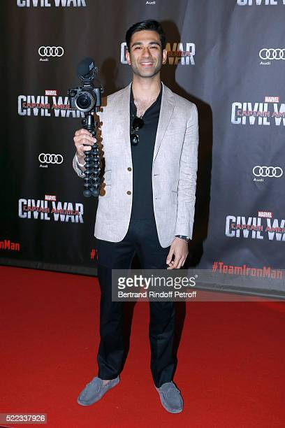 "Anil Brancaleoni attend the ""Captain America: Civil War"" Paris Premiere. Held at Le Grand Rex on April 18, 2016 in Paris, France."
