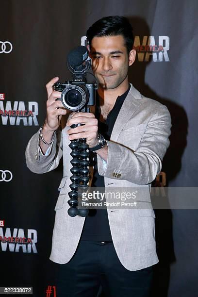 "Anil Brancaleoni attends the ""Captain America: Civil War"" Paris Premiere. Held at Le Grand Rex on April 18, 2016 in Paris, France."