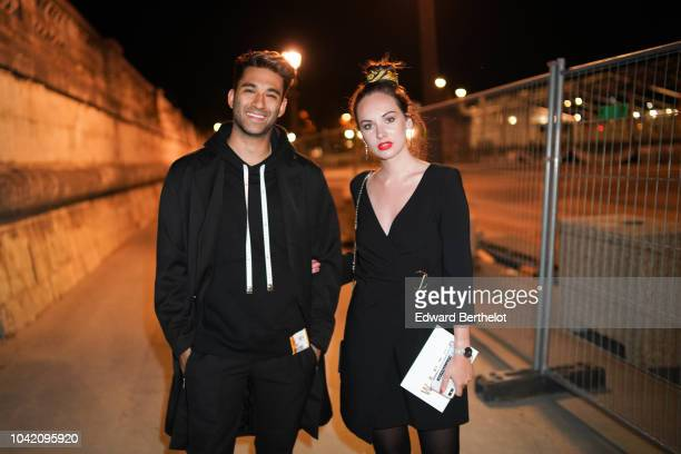 Anil Brancaleoni formerly known as Wartek, and Ophelie Duvillard, outside L'Oreal Party x Isabel Marant, during Paris Fashion Week Womenswear...