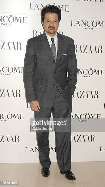 Anil Kapoor attends the Lancome and Harper's Bazaar BAFTA party held at St Martins Lane Hotel on February 19 2010 in London England