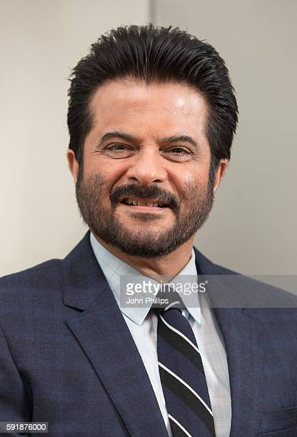 Anil Kapoor poses for photographers ahead of a Press confrence for the TV series '24' at Montcalm Hotel on August 18 2016 in London England