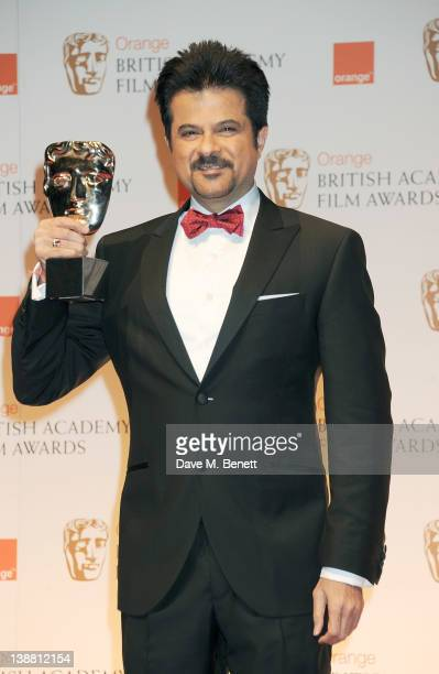 Anil Kapoor poses in the press room at the Orange British Academy Film Awards 2012 at The Royal Opera House on February 12 2012 in London England