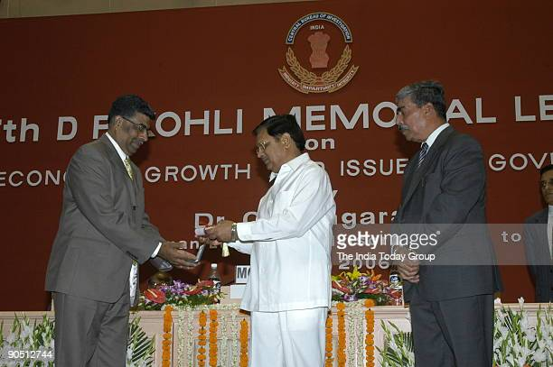 Anil Kumar Public Prosecutor of the CBI's Anti Corruption Branch in Cochin Receiving the Award from Suresh Pachouri Minister of State for Personnel...