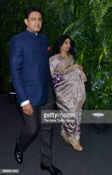 Anil Kumble at Virat Kohli and Anushka Sharmas reception in Mumbai