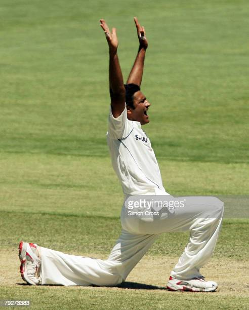 Anil Kumble of India appeals for LBW during day four of the Fourth Test between Australia and India at Adelaide Oval January 27, 2008 in Adelaide,...