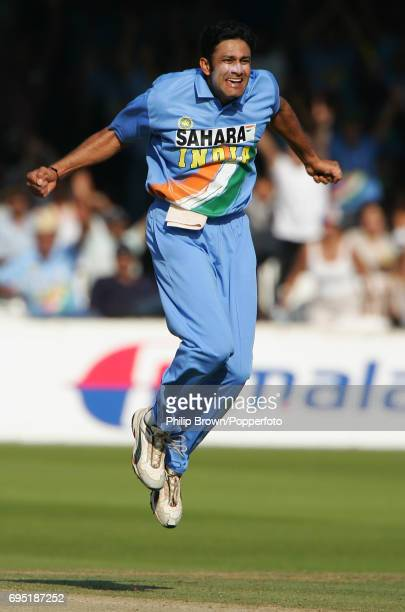 Anil Kumble of India celebrates after taking a wicket during the 3rd NatWest One Day International between England and India at Lord's Cricket Ground...