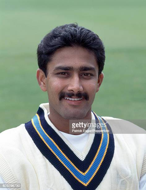 Anil Kumble of India during the 1996 tour of England circa May 1996