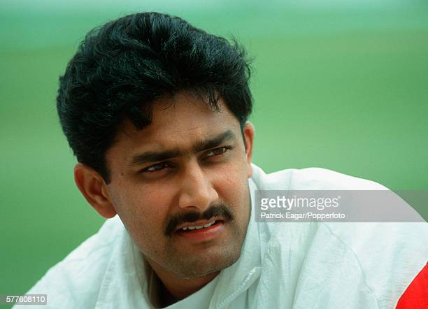 Anil Kumble of India during the India tour of England 5th May 1996