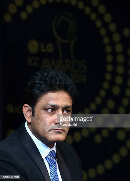 Anil KumbleChairman of the ICC Cricket Commitee talks to the media at a press conference to announce the shortlists for the LG ICC Awards 2014 at the...