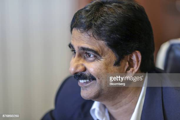 Anil Yendluri chief executive officer of Krishnapatnam Port Co Ltd speaks during an interview in Krishnapatnam Andhra Pradesh India on Saturday Aug...