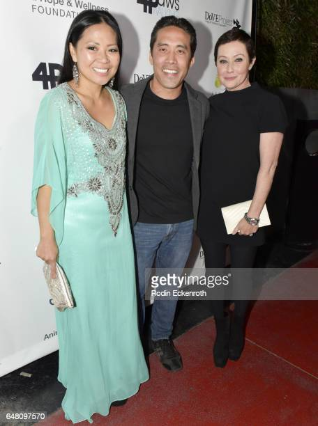 Animal activist Marc Ching Linda Ching and actress Shannen Doherty attend the Animal Hope and Wellness Foundation's 1st annual Gratitude Gala at W...