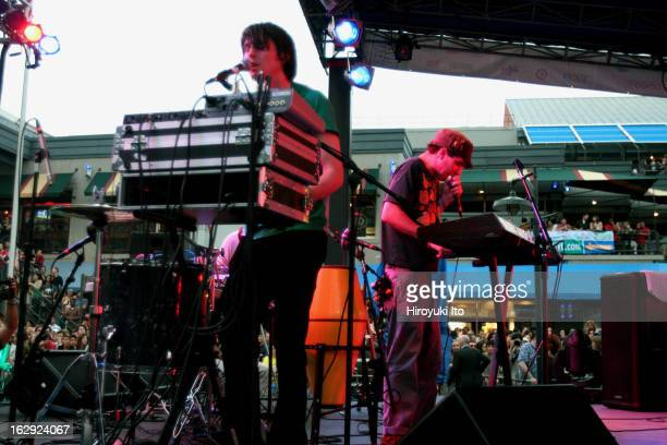 Animal Collective performing at South Street Seaport on Friday night June 1 2007This imageDavid Portner right and Noah Lennox of Animal Collective