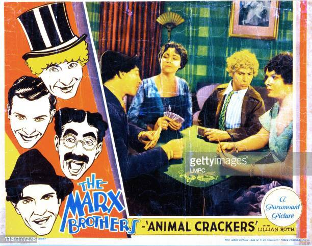 Animal Crackers lobbycard Chico Marx Margaret Dumont Harpo Marx Margaret Irving 1930
