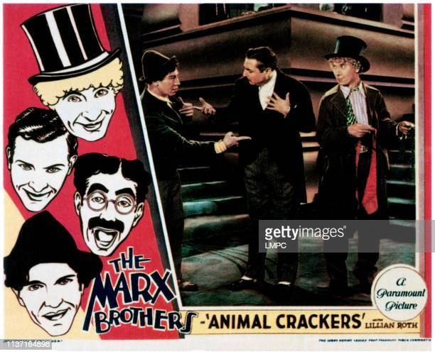 Animal Crackers lobbycard left from top Harpo Marx Zeppo Marx Groucho Marx Chico Marx right from left Chico Marx Zeppo Marx Harpo Marx 1930