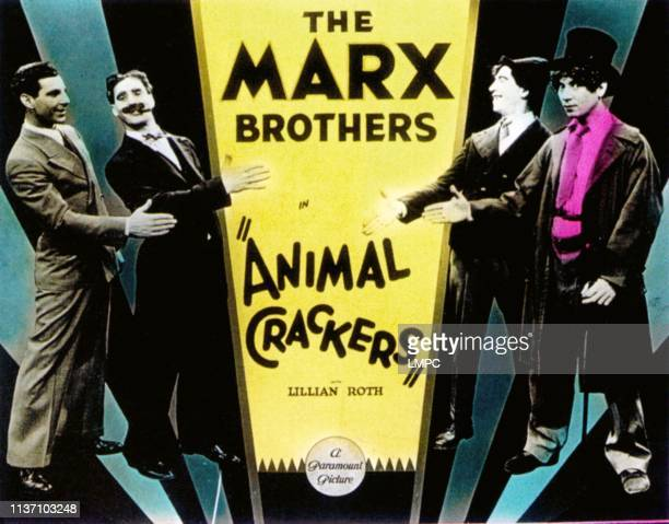 Animal Crackers lobbycard Zeppo Marx Groucho Marx Chico Marx Harpo Marx 1930