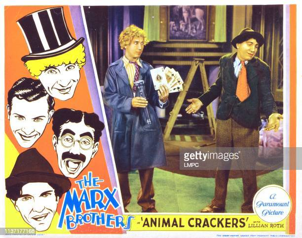 Animal Crackers poster Harpo Marx Zeppo Marx Groucho Marx Chico Marx 1930