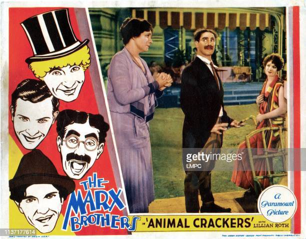 Animal Crackers poster Margaret Dumont Harpo Marx Zeppo Marx Groucho Marx Chico Marx Margaret Irving 1930