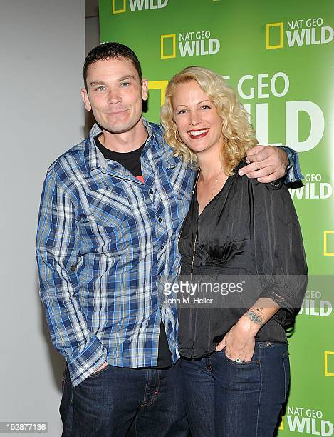Animal expert Donald Schultz and actress/animal activist Alison Eastwood attend the premiere screening of National Geographics 'Animal Intervention'...