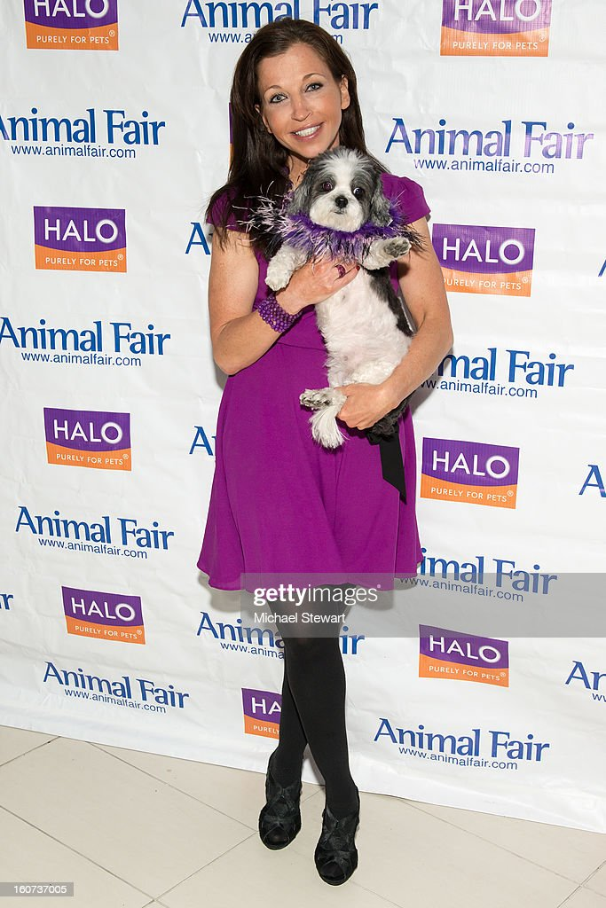 Animal Fair founder Wendy Diamond (L) and Baby Hope attend the TLC's 'Cake Boss' Baby Hope's Most Expensive Pet Wedding in History benefiting the Humane Society episode viewing at Maserati Showroom on February 4, 2013 in New York City.