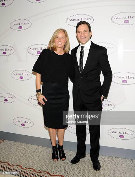 Animal Haven Executive Director Tiffany Lacey and TV journalist Dan Harris attend Animal Haven: Benefit for the Animals at Capitale on June 3, 2015...