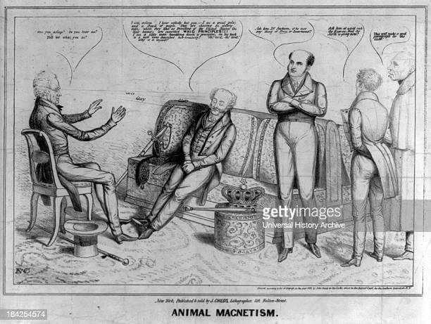 Animal Magnetism by John Childs and Edward Williams Clay circa 1839 Lithograph print on wove paper Political cartoon satirizing Van Buren's treasury...