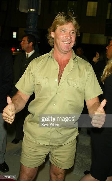 "Animal Planet's Steve Irwin attends the Twentieth Century Fox Los Angeles premiere of the film ""Master and Commander: The Far Side of the World"" at..."