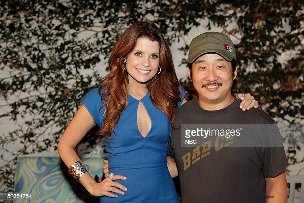EVENTS Animal Practice Pooches Press Party Pictured Joanna Garcia Bobby Lee at The Club Beverly Hills on Tuesday September 18 2012