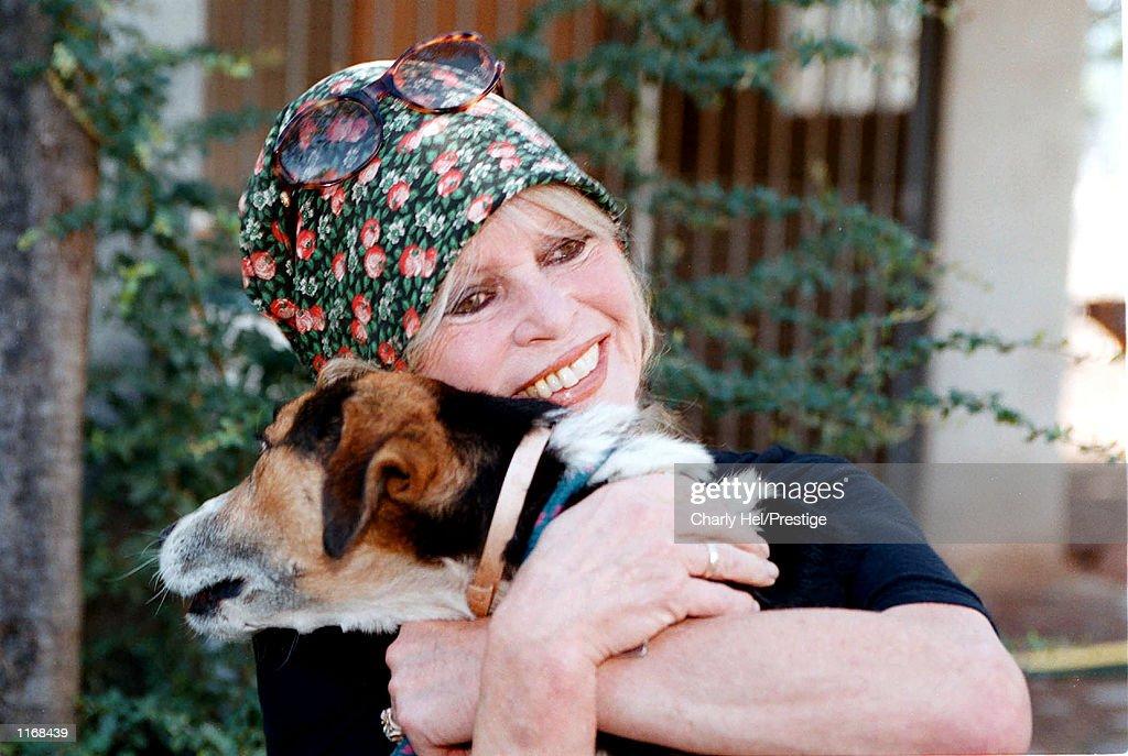 Animal rights activist Brigitte Bardot visits her dog refuge 'The Nice Dogs' of Carnoules on October 7, 2001 in Paris, France.