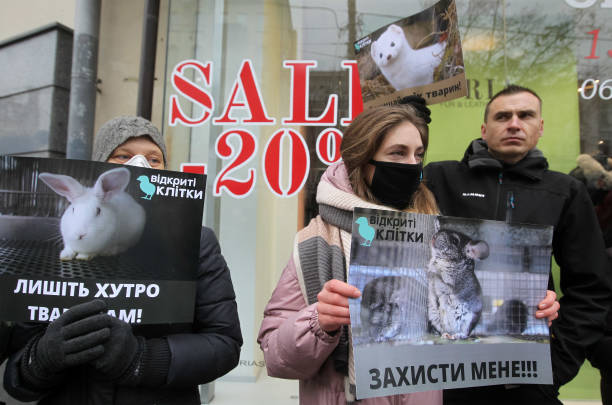 UKR: Fur-Free Friday Protest In Kyiv