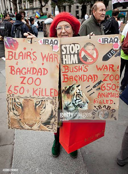 Animal Rights / Anti-War protester