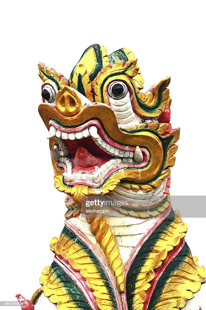 Animal-Skulptur in thailändischem Tempel : Stock-Foto