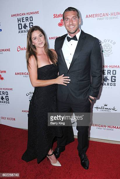 Animal Trainer Brandon McMillan and guest attend the 6th Annual Hero Dog Awards 2016 at The Beverly Hilton Hotel on September 10 2016 in Beverly...