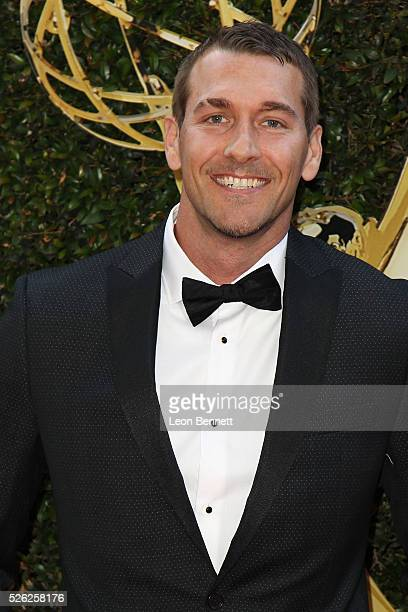 Animal Trainer Brandon McMillan attends the 2016 Daytime Creative Arts Emmy Awards - Arrivals at Westin Bonaventure Hotel on April 29, 2016 in Los...