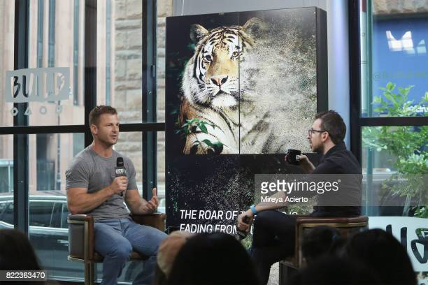 Animal trainer Dave Salmoni visits Build to discuss Global Tiger Day and Discovery's Project CAT at Build Studio on July 25 2017 in New York City