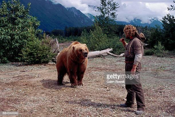 Animal Trainer With Alaskan Brown Bear