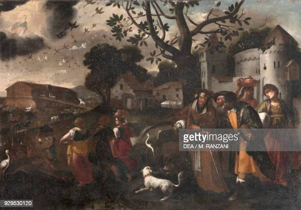 Animals entering Noah's Ark painting attributed to Isidoro Bianchi Lombardy Italy 17th century