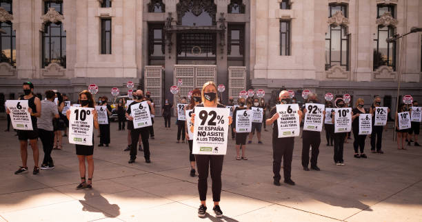 ESP: Protest Against Bullfighting In Madrid