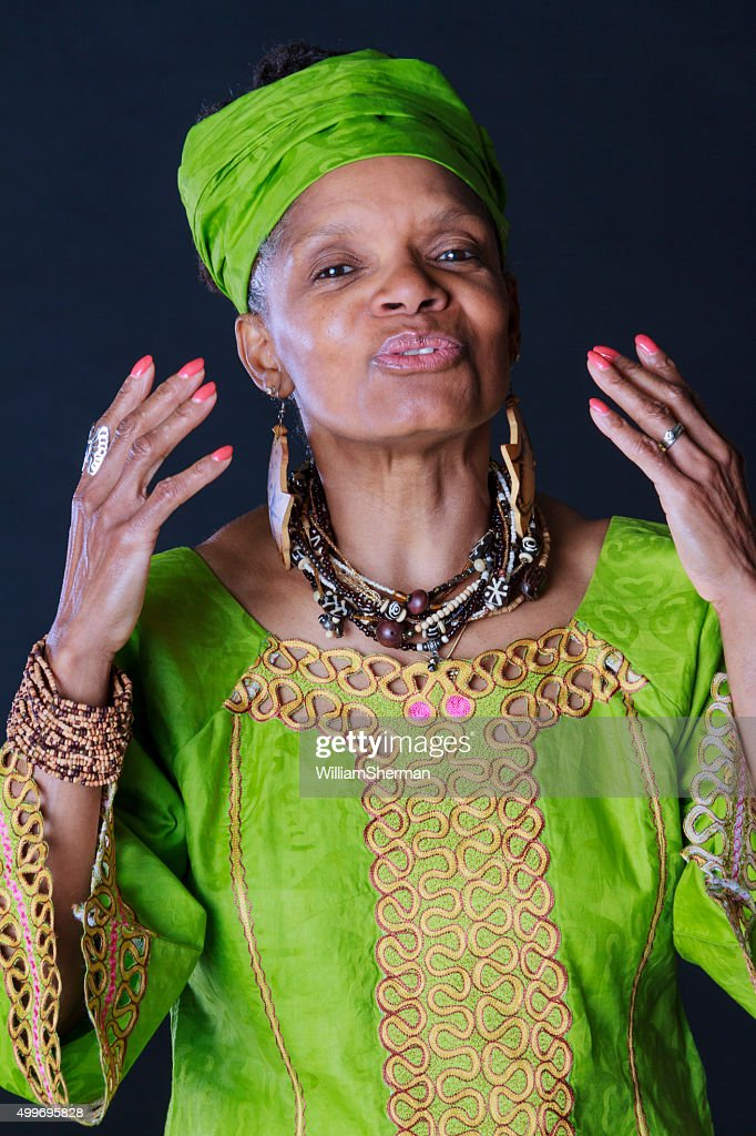 Animated African American Woman Story Teller : Stock Photo