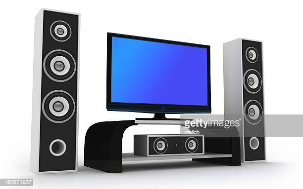 Animated design of home theater and speakers